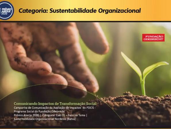 Fundación Odebrecht defiende case de comunicación en la etapa nacional del Premio Aberje 2020