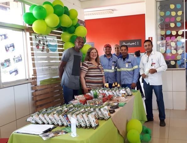 Ação da campanha em unidade da Atvos no Mato Grosso