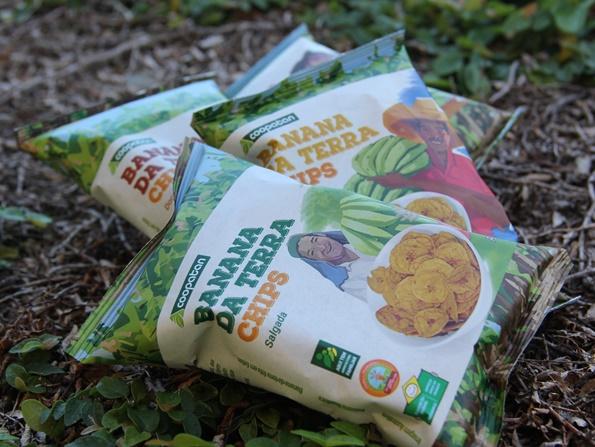 banana da terra chips agricultura familiar da Coopatan