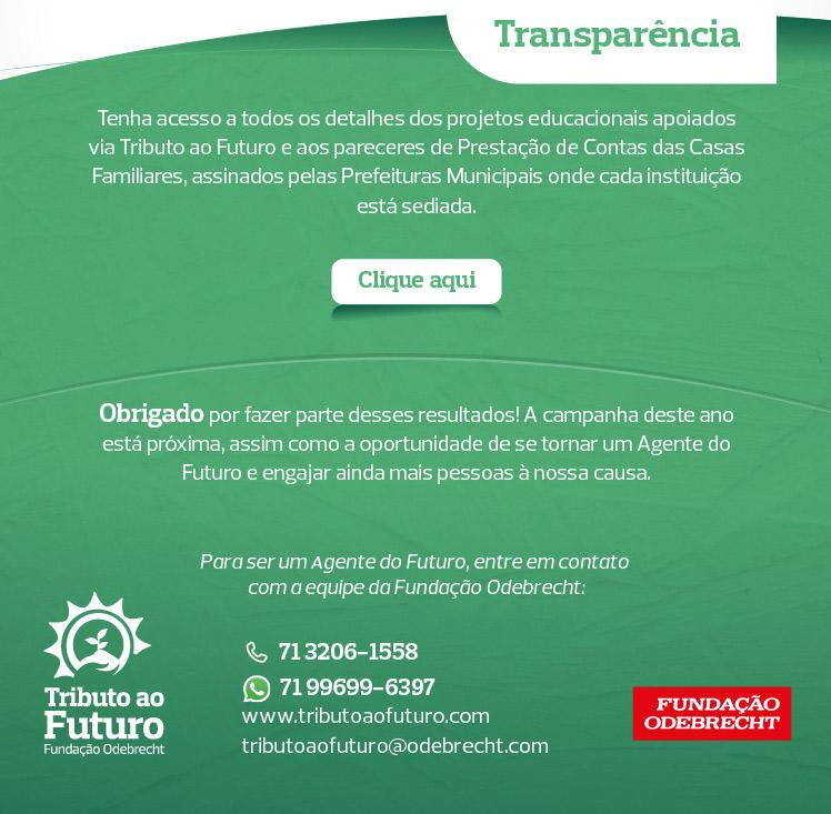 Tributo ao Futuro doações para projetos sociais