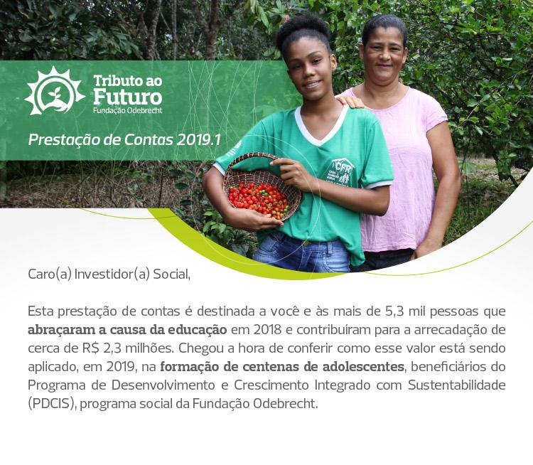 Tributo ao Futuro doação para projetos sociais